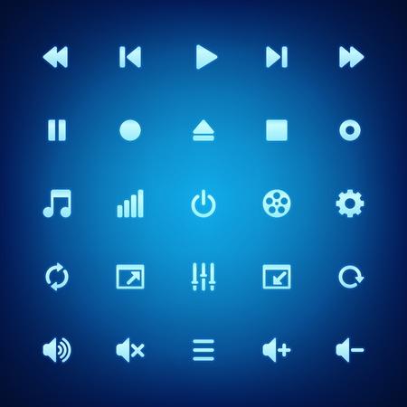 interface menu tool: Media icone vettoriali giocatore impostato Vettoriali