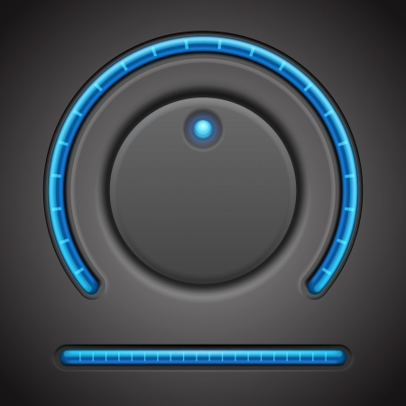 music buttons: Volume button and timer line vector design element
