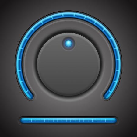 start button: Volume button and timer line vector design element