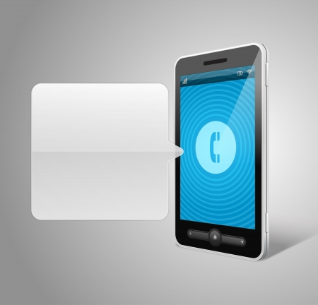 Mobile phone and incoming call icon vector backgroud Vector