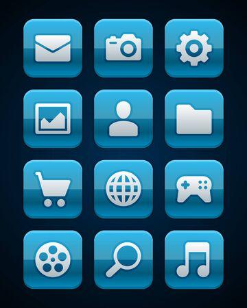 Кнопки: Веб-сайт вектор иконки установить