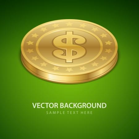 Dollars money coin vector background Stock Vector - 14760714