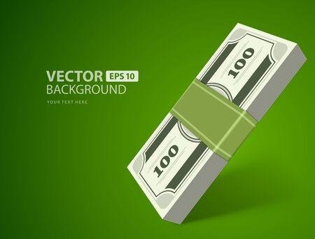 bundle: Dollars money vector background