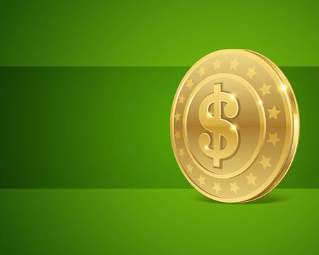 Dollars money coin vector background Vector