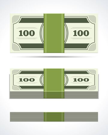 usd: Dollars money in perspective vector design elements Illustration