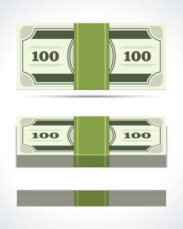 Dollars money in perspective vector design elements Stock Vector - 14760759