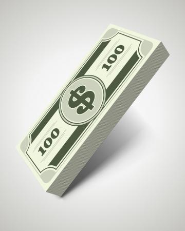 Dollars money in perspective vector design elements Stock Vector - 14760768