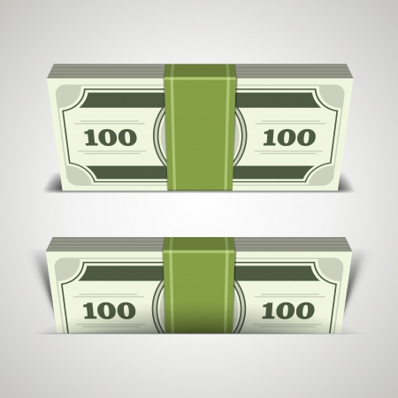 Dollars money in perspective vector design elements Stock Vector - 14760723