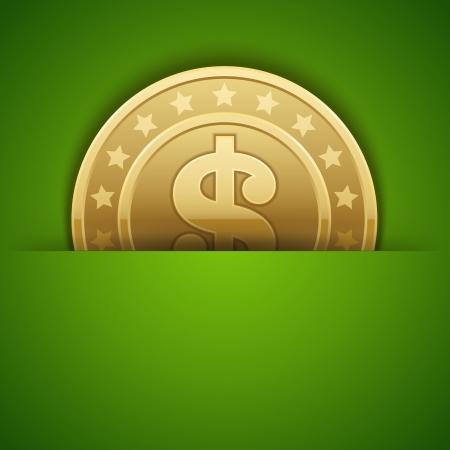 Dollars money coin vector background Stock Vector - 14760678