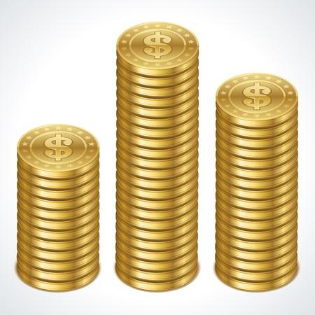 monet: Graph from dollars money coins vector design element