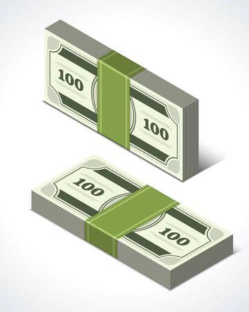 Dollars money isometric perspective vector design elements Stock Vector - 14760756