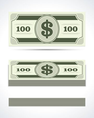 Dollars money in perspective vector design elements Stock Vector - 14760622