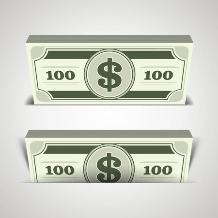 Dollars money in perspective vector design elements Stock Vector - 14760720