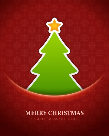 Christmas tree vector background Stock Vector - 15753600