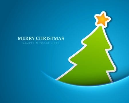 christmas retro: Christmas tree vector background