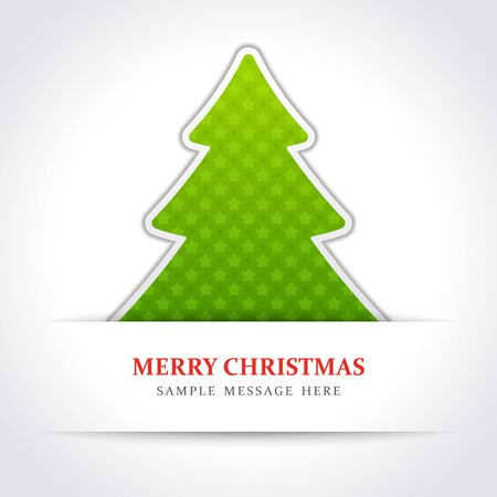 year curve: Christmas tree vector background