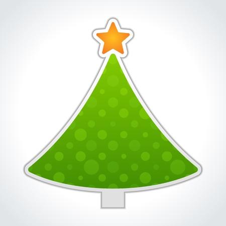 deign: Christmas tree label vector deign element Illustration