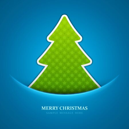 Christmas tree background Stock Vector - 15828403
