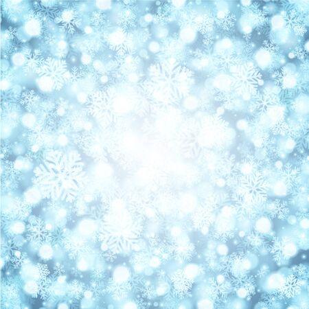 Christmas snowflakes and light Stock Vector - 15826152
