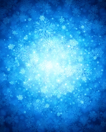Christmas snowflakes and light background Vector