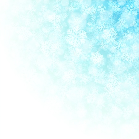 happy new year banner: Christmas snowflakes and light background Illustration