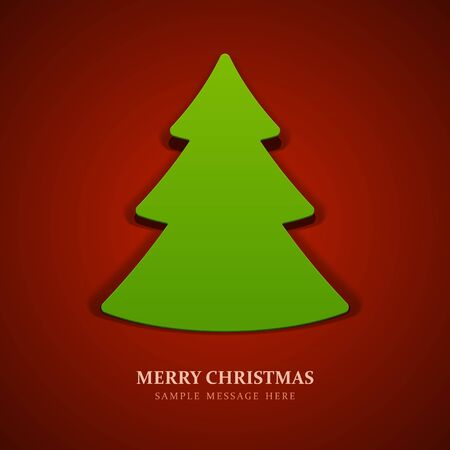 xmas tree: Christmas tree from cut paper background Illustration