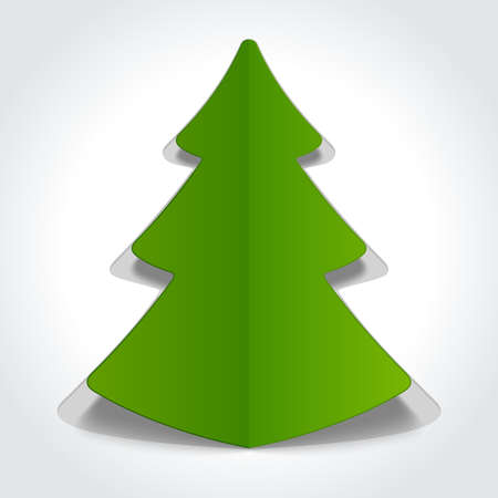 Christmas tree from cut paper design element Vector