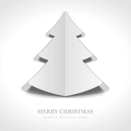 Christmas tree from cut paper background Stock Vector - 15819417