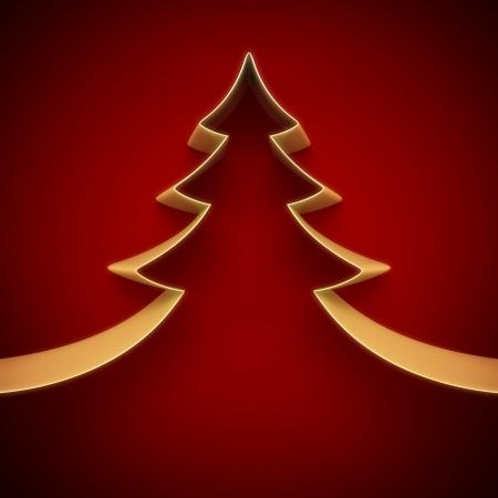 Christmas tree from ribbon background Stock Photo - 15936449