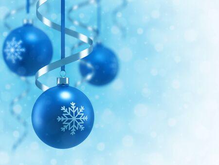 Christmas ball and light background photo