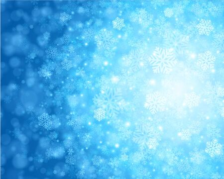 Christmas snowflakes and light vector background Stock Vector - 16434621