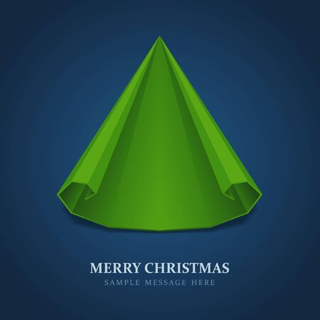 Christmas tree from scroll paper vector background Vector