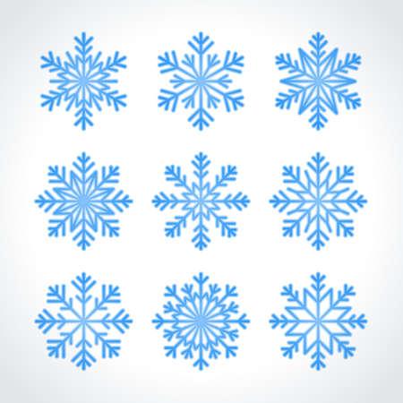 snow flake: Snowflakes winter vector set
