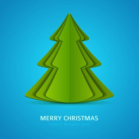 Christmas tree vector from paper background Vector
