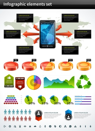 Infographics collection vector design elements Vector