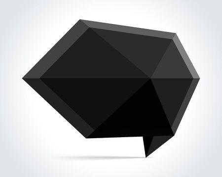 White origami speech bubble  background Vector