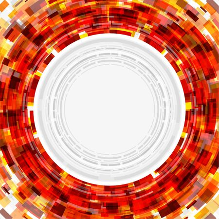 tunnel light: Abstract technology circle digital background