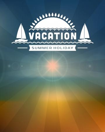 Retro summer design poster  Vector illustration Stock Vector - 19757266