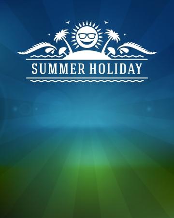excursion: Retro summer design poster  Vector illustration