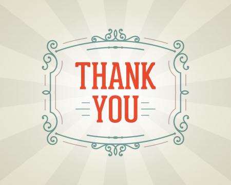 dank u: Dank u bericht en antieke frame design element