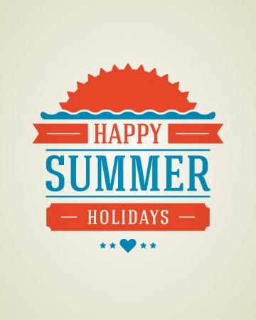 retro vector: Retro summer design poster  Vector illustration