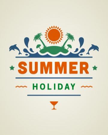 vector retro: Retro summer design poster  Vector illustration