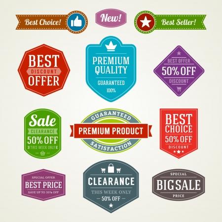 vintage sale label set design elements