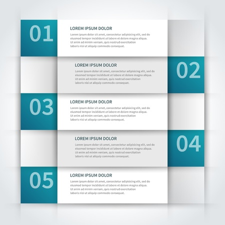stationery items: paper lines and numbers design template Illustration