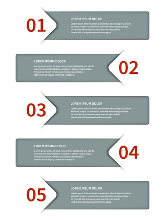 business presentation: paper lines and numbers design template Illustration