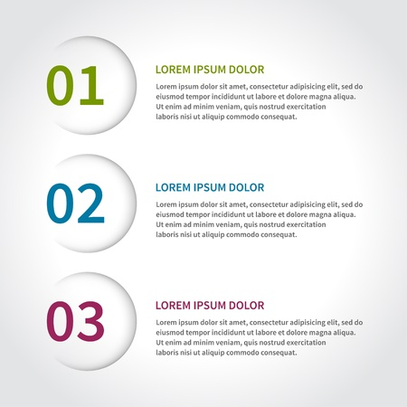 paper lines and numbers design template Stock Vector - 20386214