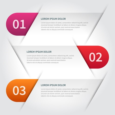 paper lines and numbers design template Vector