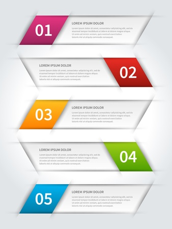 paper graphic: paper lines and numbers design template Illustration