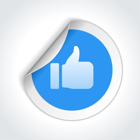 Thumbs up or like button illustration Stock Vector - 20386213