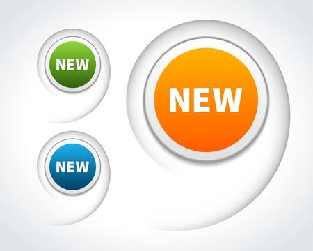 New labels set design elements Stock Vector - 20386177